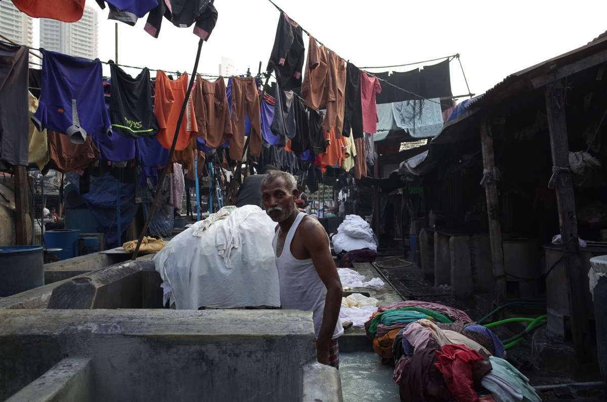 Man at Mahalaxmi Dhobi Ghat